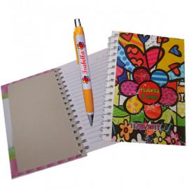 Kit Caderneta + Caneta Personalizada